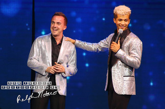 Frankie Muniz and Jordan Fisher perform with the cast of Dancing With the Stars at Hard Rock Love Ho