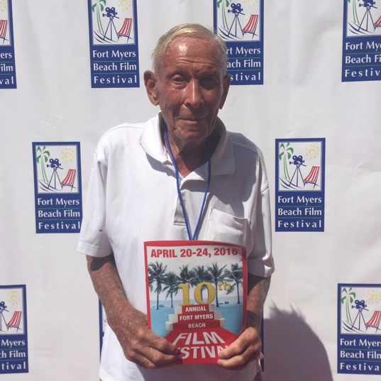 A happy Bob at Fort Myers Beach Film Festival