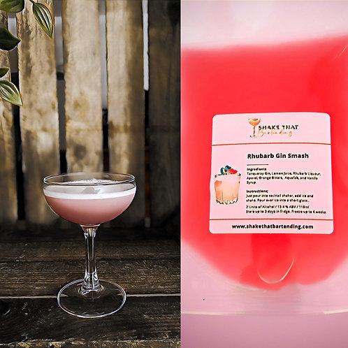 Rhubarb Gin Smash (15% ABV)