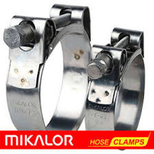 Exhaust Clamps Stainless (W4) - Set of 3