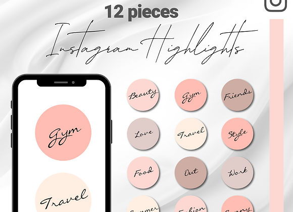 Instagram highlights cover -nude