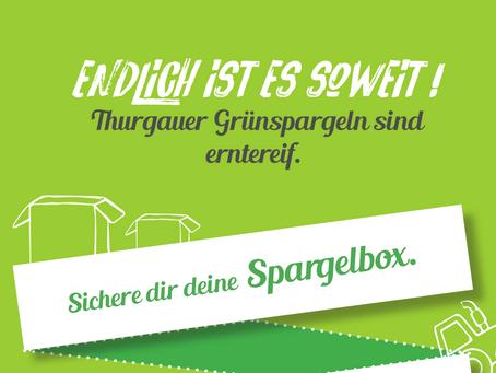 THURGAUER GRÜNSPARGELN SIND JETZT ERNTEREIF!