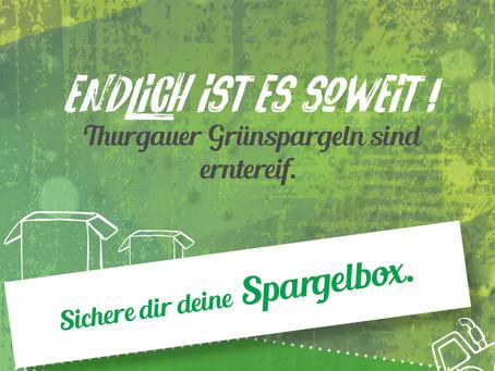 Endlich ist es soweit! Thurgauer Grünspargeln sind erntereif.