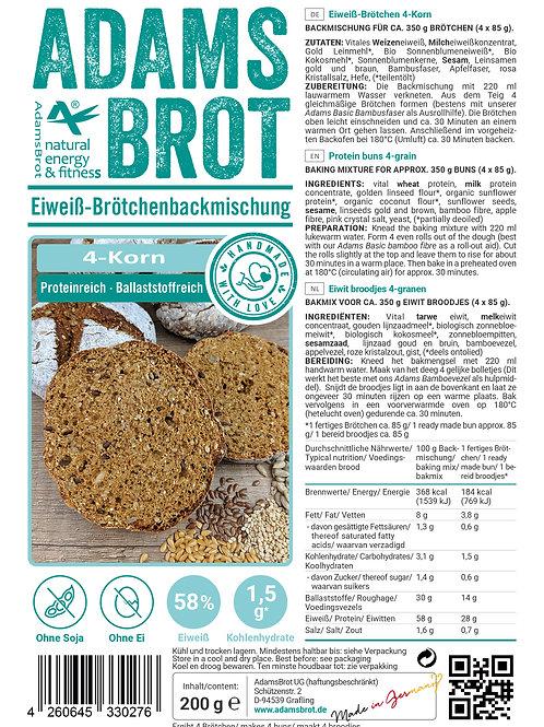 Adam's Brot Broodjesmix voor 4 pistolets- 4 granen / 4 korn