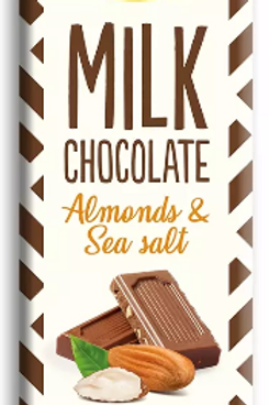 Sukrin Melkchocolade Amandel & Zeezout