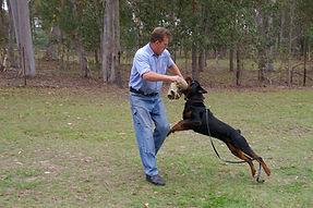 Craig with Patrol Dog