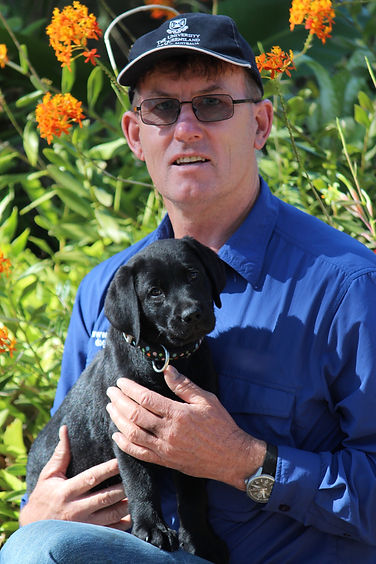 Craig with Assistance Dog Puppy