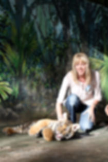 Tracey Murray at Big Cat Rescue Centre in USA