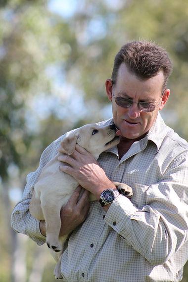 Craig with Labrador Puppy