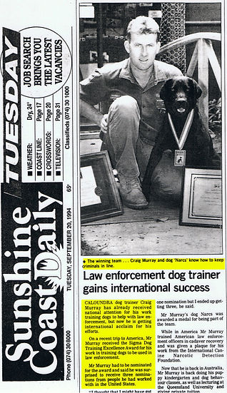 Law Enforcement Dog Trainer ganins International Success