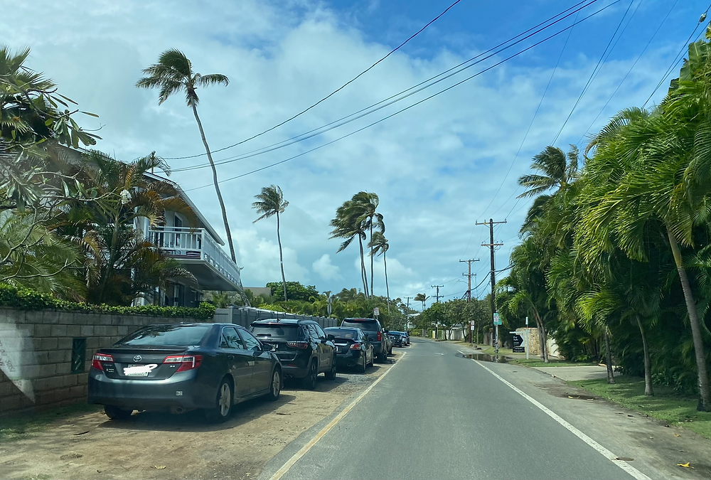 street parking for Lanikai Beach windward side of Oahu most beautiful beach in the world what to know about visiting Hawaii