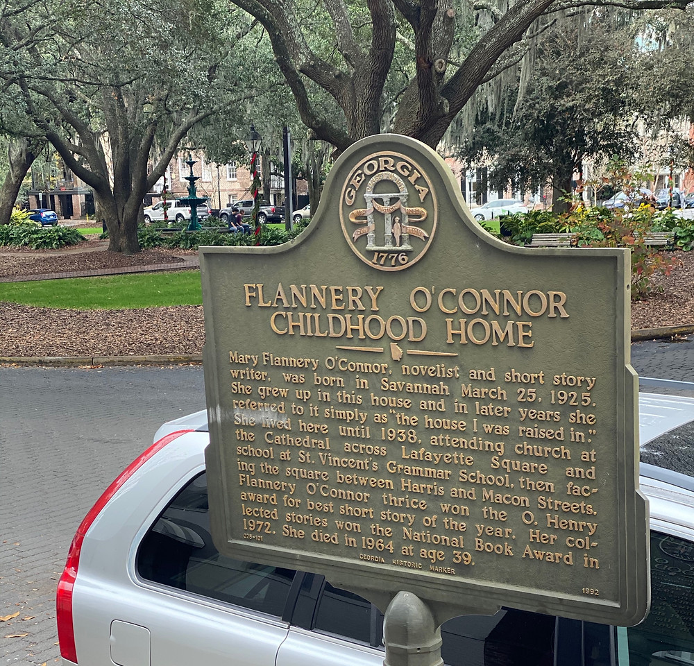 Flannery O'Connor Childhood Home Museum Savannah GA literary sites book lovers