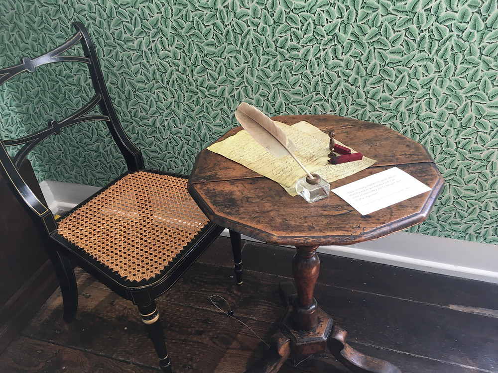 Jane Austen's home virtual tour Jane Austen writing table