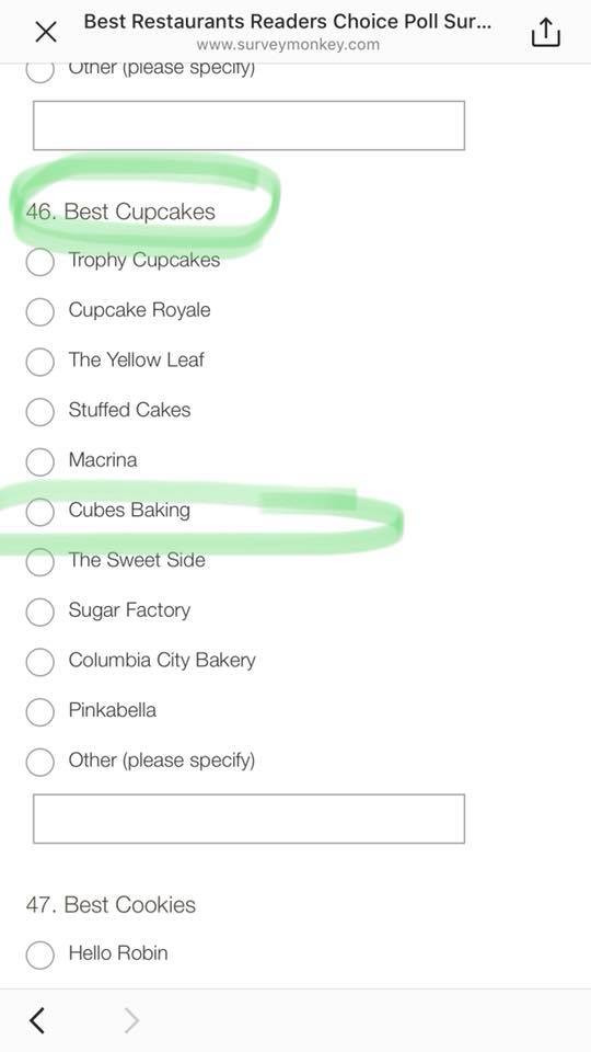 Vote For Cubes Baking Co!