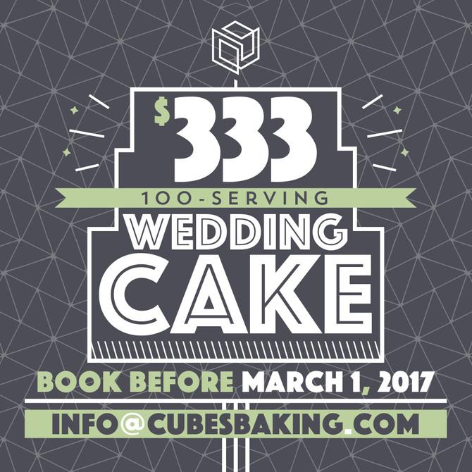 $333 Wedding Cake Promotion - WHOA!