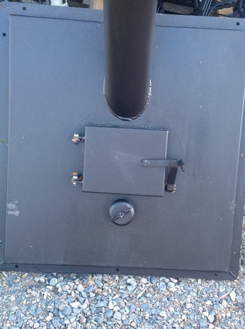 Back of stove - door to fill from outside