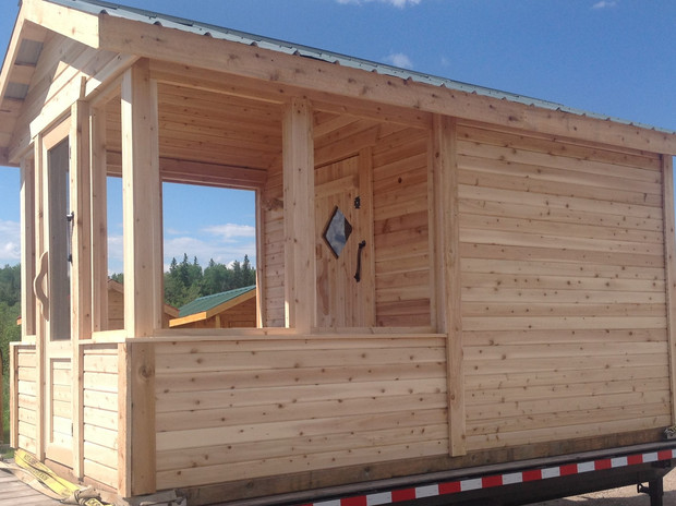7 x 7 sauna with 7 ft. screened in deck.