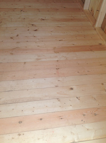 Garden Shed Floor - Pine Tongue and Groove
