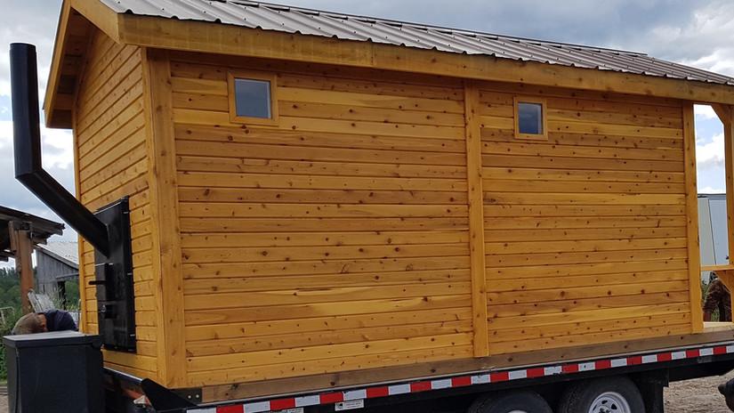 7 ft sauna, 5ft change room, 3ft covered deck