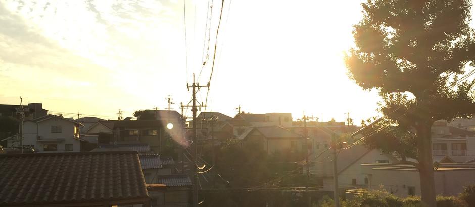 忘れられない夕焼け(瑞穂区蜜柑山町の売地)