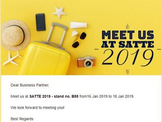 Meet us at SATTE 2019
