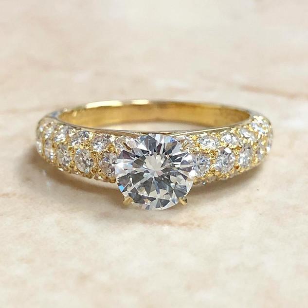 Vintage Van Cleef And Arpels Diamond Engagement Ring