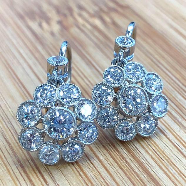 Handmade Diamond Earrings