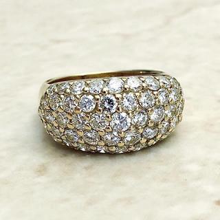 18 Karat Yellow Gold 2.50 CTTW Diamond Dome Cocktail Ring