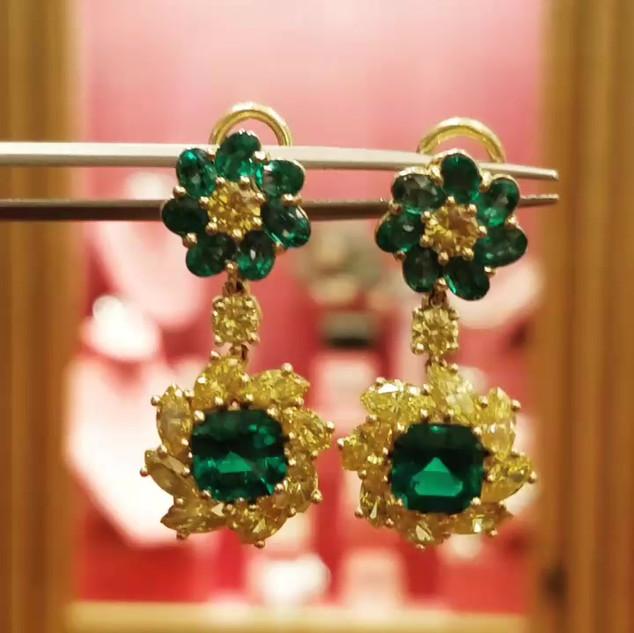 Unique Colombian Emerald Earrings