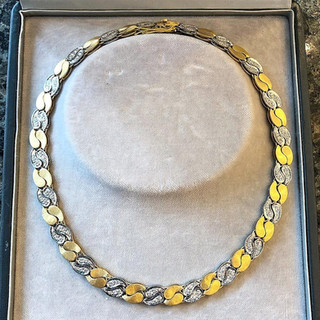 Vintage 18 Karat Gold and Diamond Necklace by Mario Buccellati
