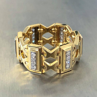 Vintage Carvin French Diamond Eternity Band