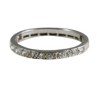 Vintage Platinum Eternity Diamond Ring