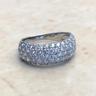 Platinum 1.50 CTTW Diamond Dome Cocktail Ring