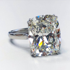 9.58 Carats Cushion Cut Diamond Engagement Ring