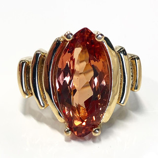 Vintage Marquise Imperial Topaz Ring