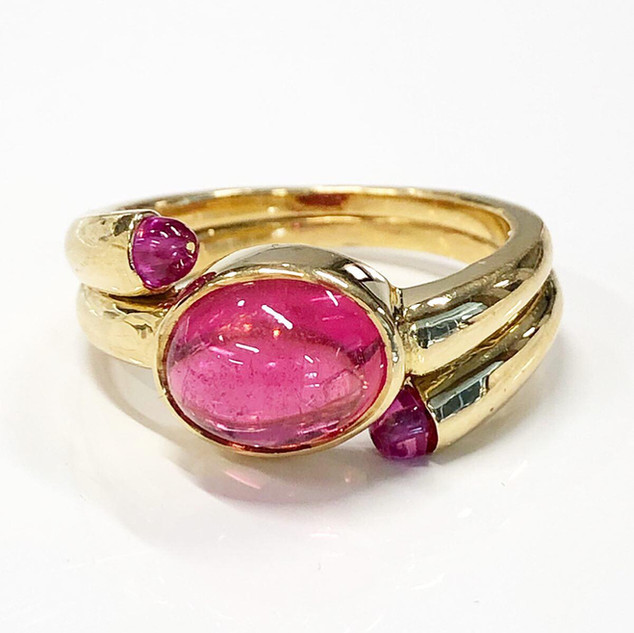 Vintage Carvin French Tourmaline Ring