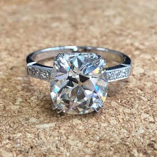 Original Old Cut Diamond Engagement Ring