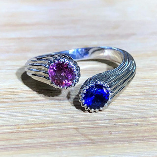 18 Karat Gold and Sapphire Ring by Carvin French
