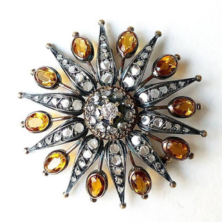Antique Citrine Brooch