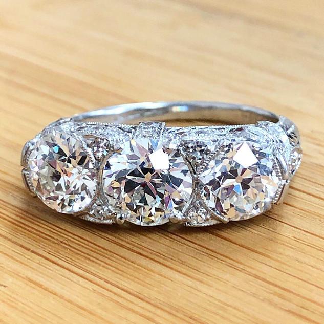 Antique 3-Stone Diamond Ring