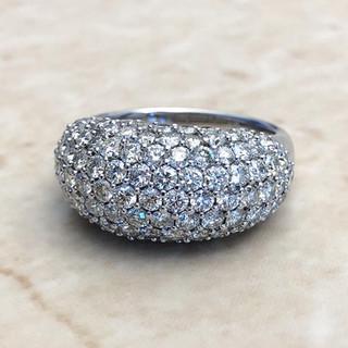 18 Karat White Gold 3.19 CTTW Diamond Dome Cocktail Ring