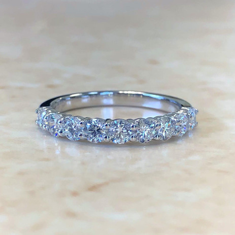 Nine Stone Diamond Stackable Ring 1 CTTW