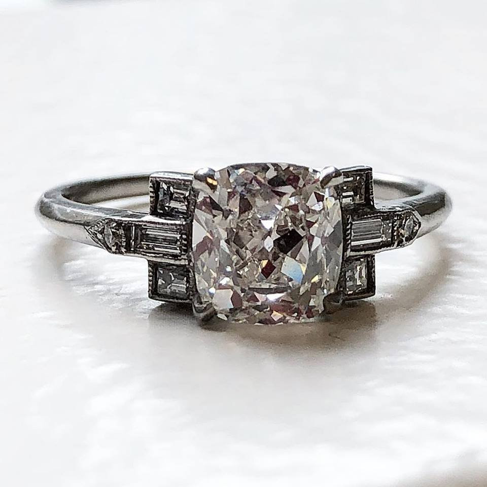 Art Deco Style Engagement Ring | Estate Jewelry | New York | World ...