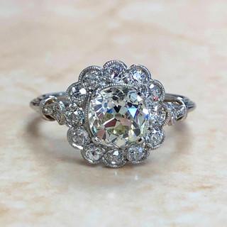 Handcrafted Platinum 1.29 Carat Diamond Engagement Ring