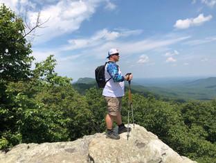Jason hiking in NC