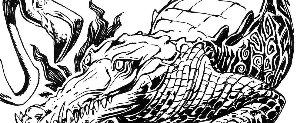 george-drawing-alligator-pen-ink-banner_