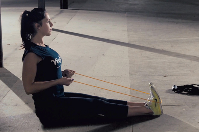 wayflex suspension trainer with band resistance training
