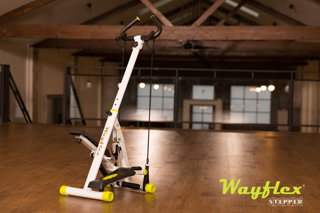 wayflex folding stepper with resistance cord and handlebar