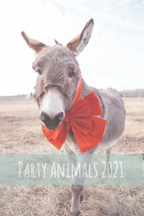 Party Animals 2021 Wall Calendar