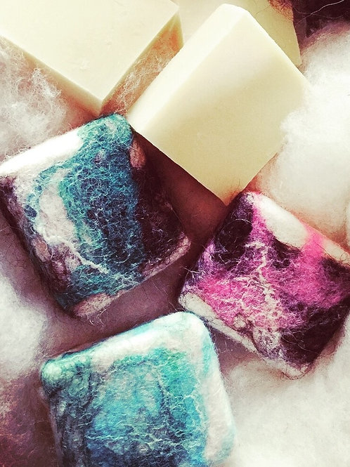Icelandic Wool Felted Soap
